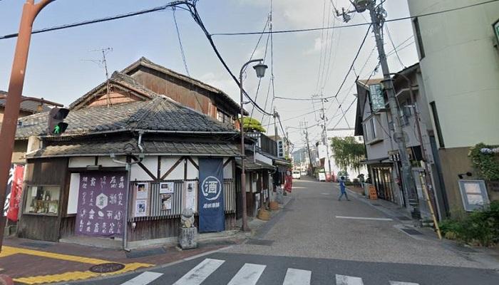 湯田温泉繁華街